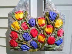 Diaper bag/ Messenger bag/Canvas tote/shoulder bag/ Fabric purse/floral tote…