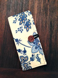 TriFold Tract Holder  Blue Floral by mtayloredmade on Etsy