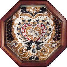 Sailor valentine seashell mosaic by Suzanne Marie Dietsch