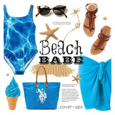"""""""Beach Babe ~ Cover-Ups"""" by alexandrazeres ❤ liked on Polyvore featuring U.S. Polo Assn., Summer, swimsuit, beachbabe and coverups"""