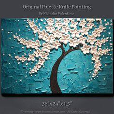 Large 36x24x1.5 Original Palette Knife Painting  by ShopModernArt, $169.99