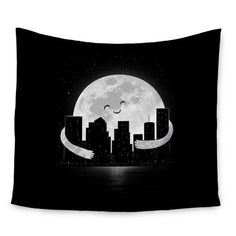 East Urban Home Goodnight by Digital Carbine Wall Tapestry Size: