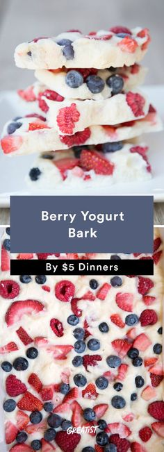 4. Berry Yogurt Bark #healthier #fourthofjuly #recipes http://greatist.com/eat/summer-recipes-for-a-healthier-cookout