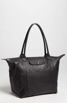 Longchamp 'Le Pliage Cuir' Leather Tote | Nordstrom