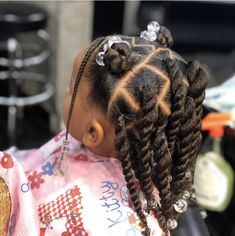 Little Girls Natural Hairstyles, Toddler Braided Hairstyles, Black Kids Hairstyles, Lil Girl Hairstyles Braids, Easy Hairstyles, Kid Braid Styles, Pelo Afro, Braids For Kids, Toddler Braids