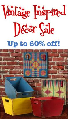 Vintage Inspired Decor Sale: up to 60% off! #home #decor #thefrugalgirls