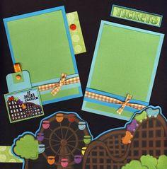 Theme Park Scrapbook Page Ideas | amusement park scrapbook layouts | ... Theme Park 2 ... | scrapbooking