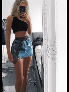 Bad Girl Outfits, Teenager Outfits, Mode Outfits, Look Fashion, Girl Fashion, Fashion Outfits, Fashion Black, Fashion Ideas, Cute Casual Outfits