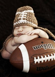 this will be a photo must if/when i have a boy! baby and his football.