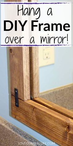 DIY frame over a bathroom mirror – do you have a boring bathroom mirror? Learn how to make a simple DIY frame hers – mirror DIY frame over a bathroom mirror – do you have a boring bathroom mirror? Learn how to make a simple DIY frame hers – mirror … Bathroom Renovations, Home Remodeling, Budget Bathroom Makeovers, Remodel Bathroom, Restroom Remodel, Shower Remodel, Bathroom Ideas Diy On A Budget, Bathrooms On A Budget, Bathroom Decor Ideas On A Budget