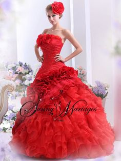 Robe mariee theme rouge