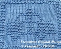 Large Knitting Cloth Pattern - POLICE CAR - PDF