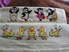 Cross Stitch, Kids, Baby Ducks, Portion Plate, Alphabet, Templates, Needlepoint, Towels, Punto De Cruz