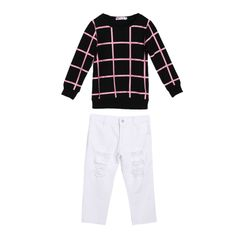 >> Click to Buy << Tops+ Pants Set Kids Girls Outfits Long Sleeve Plaid Tops Denim Pants Jeans Clothes Set for Spring,Autumn,Winter #Affiliate
