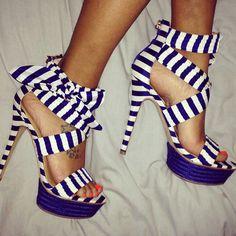 Stunning Heels!! Love these their so cute | via Tumblr