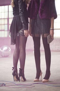 "Backseam and ""thigh high"" tights #fashion #girly #clothing #tights"
