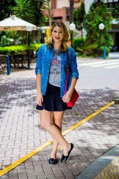 Look do dia: camisa jeans + alpargata glitter