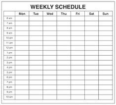 11 Best Weekly Calendar Template Images