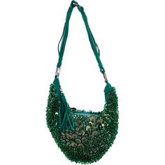 Pre-owned Cesare Paciotti Embellished Shoulder Bag ($125) ❤ liked on Polyvore featuring bags, handbags, shoulder bags, green, chain strap shoulder bag, man bag, man shoulder bag, green shoulder bag and handbag purse