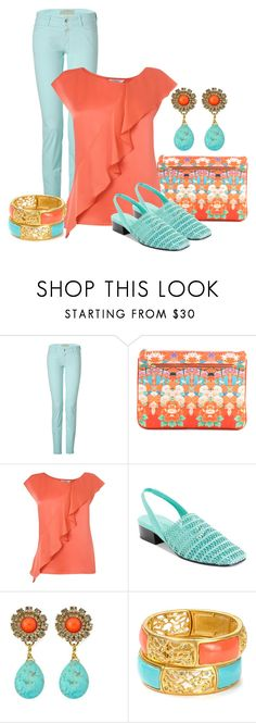 """Coral & Aqua"" by dgia ❤ liked on Polyvore featuring Closed, Camilla, L.K.Bennett, Karen Scott, Anton Heunis and Elie Tahari"
