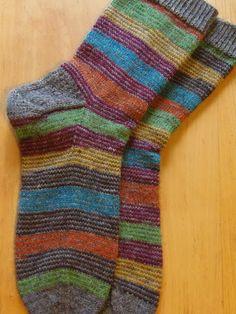 Lankaterapiaa: Harmaata raidoilla - Fabel and Flotte Socke Palermo