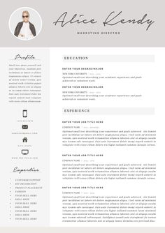 Resume Template 3page | Charming by The.Resume.Boutique on @creativemarket