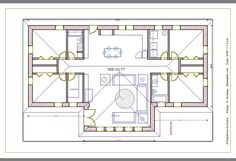 a straw bale house plan, 1250 sq. ft.
