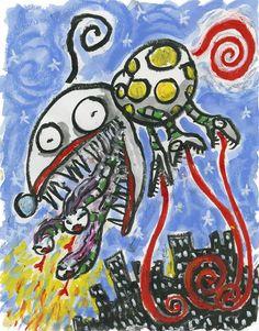 Concept Art Offers Peek at Tim Burton's Twisted Genius Tim Burton Artwork, Tim Burton Drawings, Best Pencil, Dark And Twisted, Illustrator Tutorials, Museum Of Modern Art, New Artists, Alice In Wonderland, Concept Art