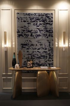 Maison et Objet Paris 2017 | Living room ideas with gold sideboard ARDARA | Visit us at Hall 5B-stand L29/M30 | More at https://www.brabbu.com/en/news-and-events/2017/maison-objet-2017/
