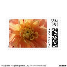 orange and red postage stamps