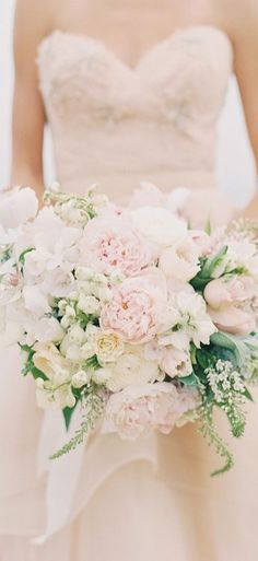 Blush bridal bouquet More