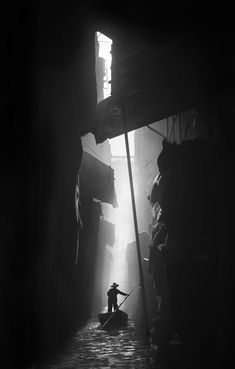 Barque Canal, Hong Kong, 1950 by Fan Ho