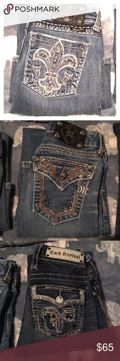 Miss me/ Rock revival jeans Lightly worn, super cute miss me & rock revival jeans. Miss me's are size 26 and the Rocks are a size 25. Rock Revival Jeans Boot Cut
