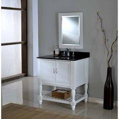 """J&J International LLC Mission Turnleg Spa 33"""" Single Bathroom Vanity Set"""