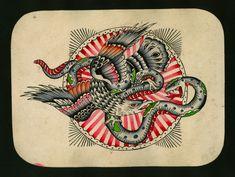Traditional Tattoo Design, Traditional Tattoo Flash, Fairy Tattoo Designs, Tattoo Designs And Meanings, Amund Dietzel, Frankenstein Tattoo, German Tattoo, Polynesian Tattoo Designs, Tattoo Flash Art