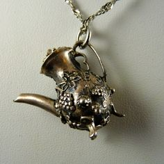Danecraft Sterling Silver Teapot Charm or Pendant, from Ornaments