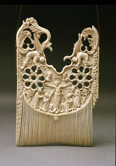 So-called comb of St. Heribert, Metz, Germany, 850-900 AD, ivory. Museum Schnütgen, Cologne