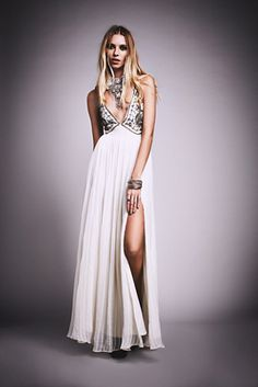 The perfect dress to party in // Free People Golden Dawn Maxi at Free People Clothing Boutique