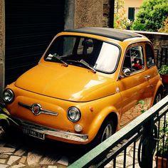 Fiat 500 sul terrazzo di casa ..