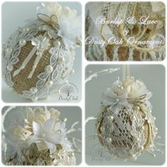I have to find some time and pull out my stash to make some similar ornaments. This is lovely.