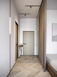Amazing render architectural work by Russian Artist and Interior designer Evgeny Garchu. The interior was well thought out as a clean modern apartment, filled with light and geometric design for the light fixtures and furniture. Design Hall Entrada, Hall Design, Indian Bedroom Design, Hall Colour, Small Hall, Modern Hall, Interior Minimalista, Bathroom Design Luxury, Best Interior Design