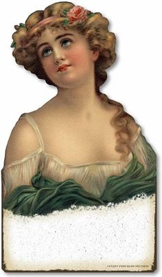 Item 3178 Vintage Victorian Style Jewelry Bust - scrap, ephemera, Victorian