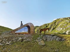 Handcrafted Cabin by Snøhetta Celebrates Norway | Glazing faces south. #interiordesignmagazine