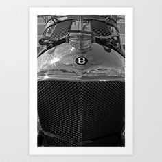 1928 Bentley - MP 2219 Art Print by Alice Gosling - $20.00  #walldecor #homedecor #Bentley #Car #Classic #BrightonSpeedTrials #Vintagecar