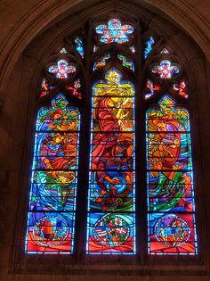 National Cathedral Stained Glass 3 HDR | Flickr - Photo Sharing!