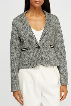 Blazer, Everything£5 Cropped Blazer, Blouse, Long Sleeve, Clothing, Sleeves, Cotton, How To Wear, Stuff To Buy, Kleding