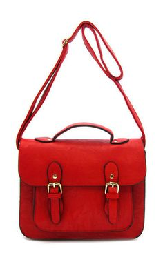 Clara Satchel in Red | Doctor Who companion fashion style Oswald  Oswin