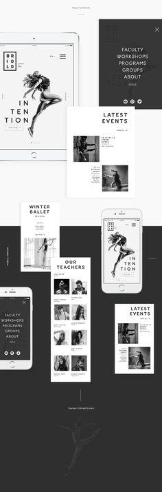 The concept of a website for the school of arts Briolo. Концепция сайта для школы искусств Briolo.