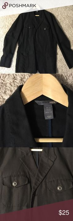 Men's H & M casual jacket Light weight casual men's jacket perfect for spring temperatures or fall temperatures. Gently used kept in smoke free home. Linen/cotton blend H&M Jackets & Coats Lightweight & Shirt Jackets