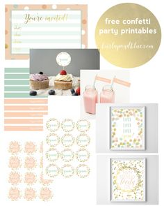 Planning a party for your little one? Today, I'm sharing some confetti party printables, in shades of mint, gold and coral, so you can put together a coordinated and adorable party in no time…